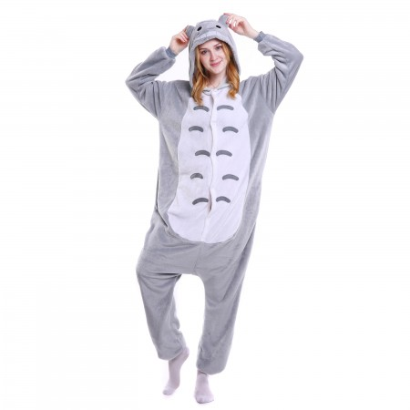 kigurumi grey Totoro onesies animal pajamas for adults