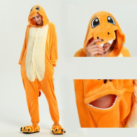 kigurumi yellow Charmander onesies animal pajamas for adults