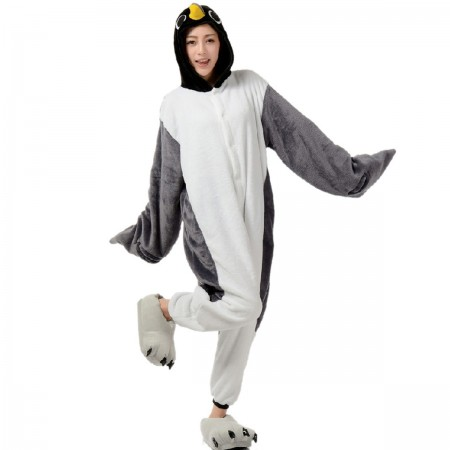 Gray Penguin Onesie