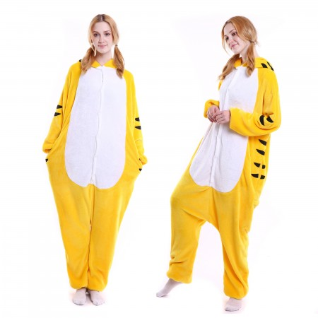 kigurumi yellow Tiger onesies animal pajamas for adults