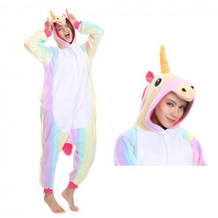 Rainbow Unicorn Onesie Kigurumi Pajamas Costume