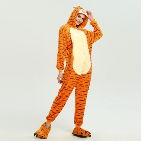 kigurumi yellow black Tigger onesies animal pajamas for adults