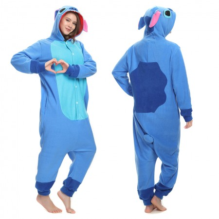 Cute Blue Stitch Onesie Pajama For Women & Men