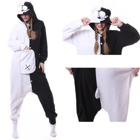 Black & White Bear Monokuma Onesie Pajama Animal Costumes For Women & Men