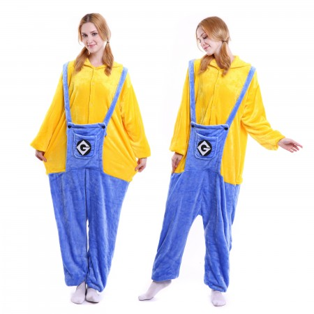 kigurumi yellow blue Minions onesies animal pajamas for adults