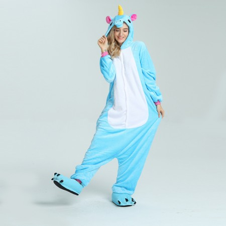 kigurumi blue Pegasus onesies animal pajamas for adults
