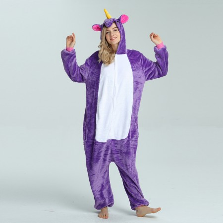 kigurumi purple Pegasus onesies animal pajamas for adults