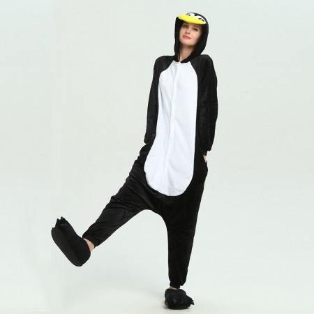 kigurumi black white Penguin onesies animal pajamas for adults