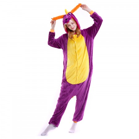 kigurumi purple Dragon onesies animal pajamas for adults