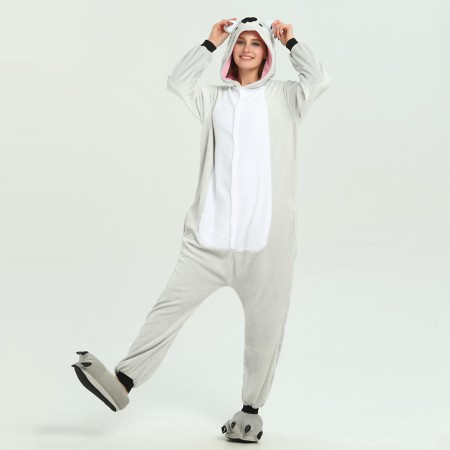 kigurumi grey Koala onesies animal pajamas for adults