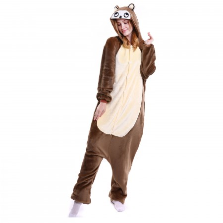 kigurumi brown Monkey onesies animal pajamas for adults