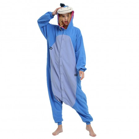 kigurumi blue Eeyore onesies animal pajamas for adults