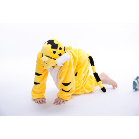 animal kigurumi yellow Tiger onesie pajamas for kids
