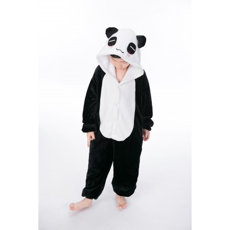 animal kigurumi black white Panda onesie pajamas for kids