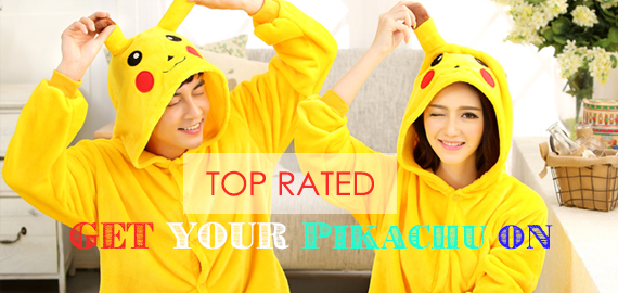 Buy pokemon pikachu onesies pajamas for adults or kids